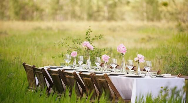 Przyjęcie weselne w plenerze