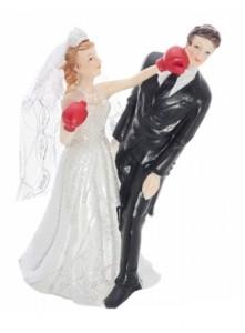 Figurka na tort weselny.  Wersja dla sportowców.