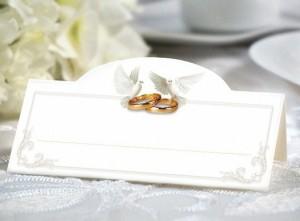 Winietki na stół - gołębie