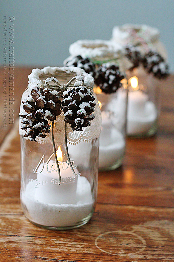 snowy-pinecone-candle-jars-in-a-row
