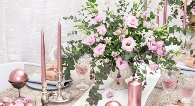 różowe_złoto_dekoracja_wesele